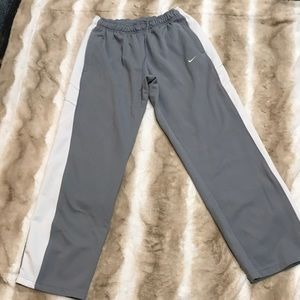Nike Gray/White Track Pants
